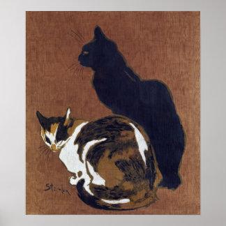 Two Cats, Alexandre Steinlen Poster