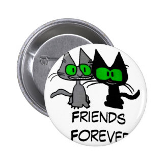Two Cats are Friends Forever Buttons