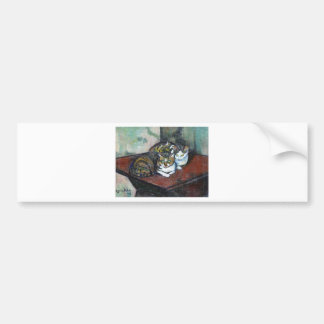 Two cats by Suzanne Valadon Bumper Sticker