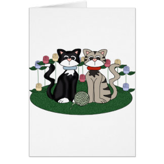 Two Cats Card