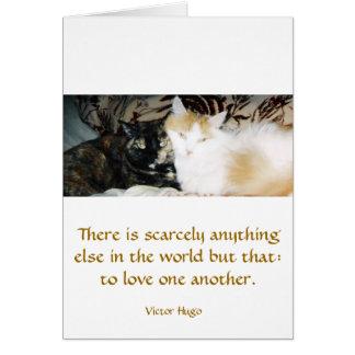 Two Cats Cheek to Cheek Card