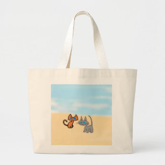 Two Cats Enjoying The Summer on The Beach Bags