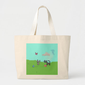 Two Cats Enjoying The Summer Outside Bags