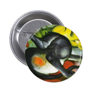 Two Cats Franz Marc Artwork Pinback Buttons