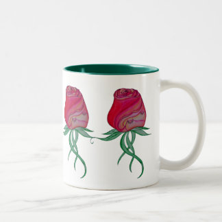 Two Cats in a Rose Mug