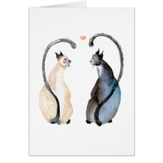 Two Cats in Love Card