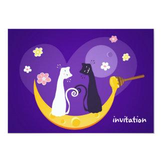 Two Cats Invitation Card