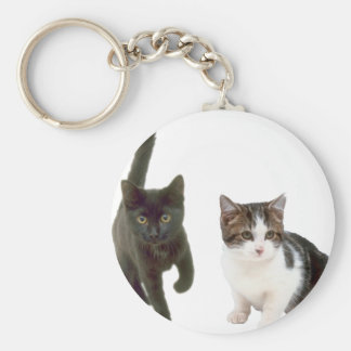Two Cats Keychains