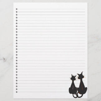 Two Cats Lined Letterhead