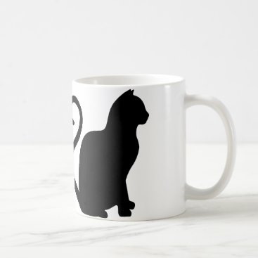 Valentines Themed Two Cats Make a Heart Silhouette Coffee Mug