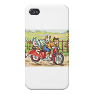 Two Cats On a Motorcycle iPhone 4 Cover