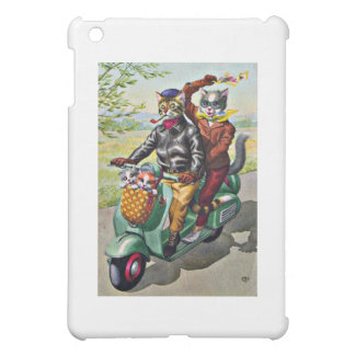 Two Cats On a Scooter Case For The iPad Mini