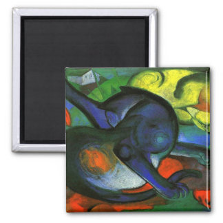 Two Cats Painting Magnet