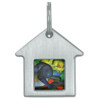 Two Cats Painting Pet ID Tag