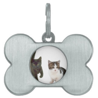 Two Cats Pet Name Tag