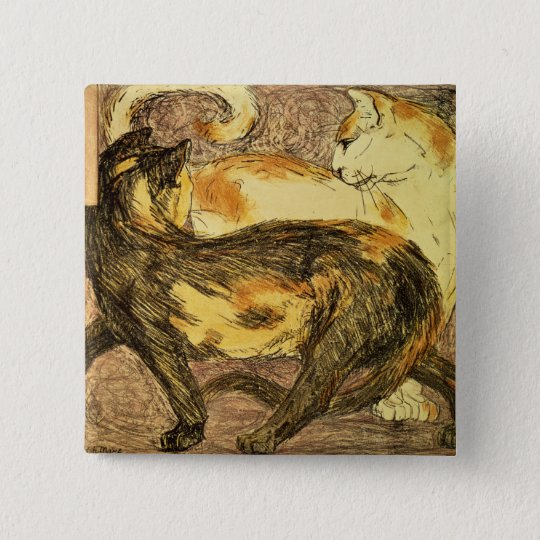 Two Cats Pinback Button