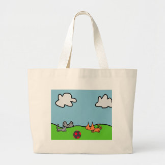 Two Cats Play Tote Bag