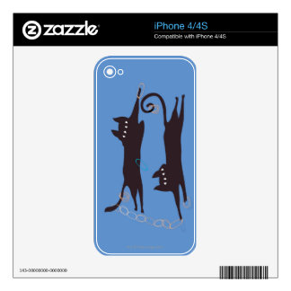 Two Cats Playing iPhone 4 Decals