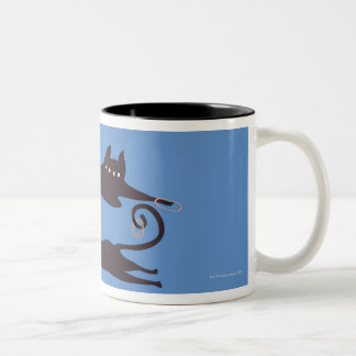 Two Cats Playing Coffee Mug