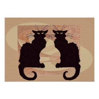 Two Cats Print print