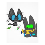 Two Cats With There Toys Custom Letterhead