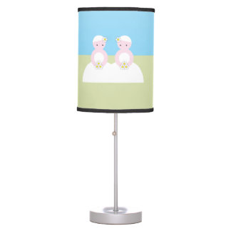 Two caucasian brides desk lamp