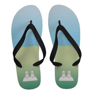 Two caucasian brides Flip-Flops