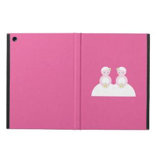 Two caucasian brides iPad air cases