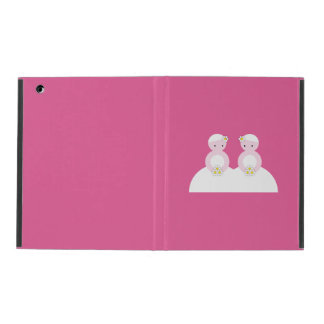Two caucasian brides iPad case