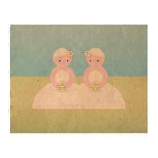 Two caucasian brides queork photo prints