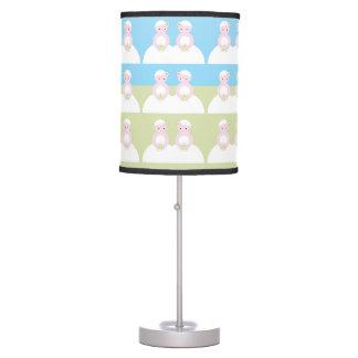 Two caucasian brides table lamp
