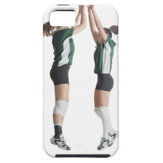 two caucasian female volleyball players from the iPhone SE/5/5s case
