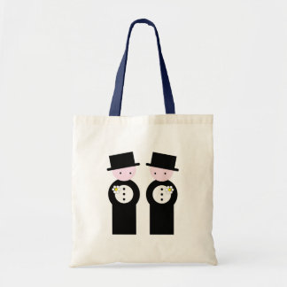Two caucasian grooms canvas bag