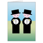 Two caucasian grooms cards