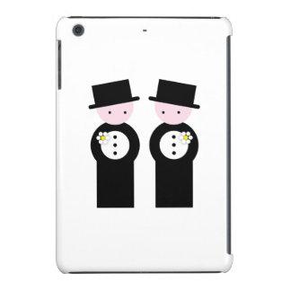 Two caucasian grooms iPad mini retina covers