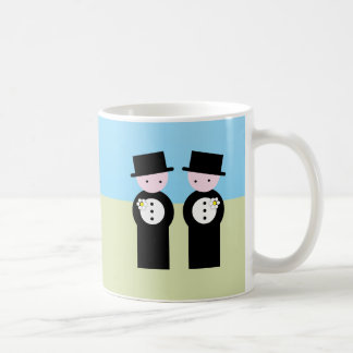 Two caucasian grooms classic white coffee mug
