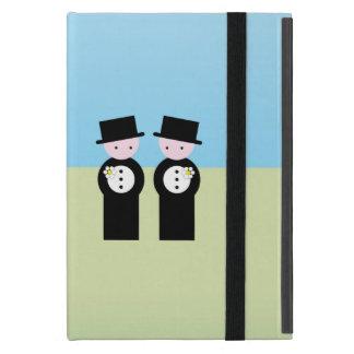 Two caucasian grooms iPad mini cases