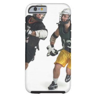 two caucasian male lacrosse players from tough iPhone 6 case