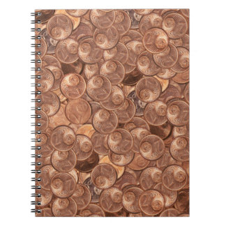 Two cent spiral note book