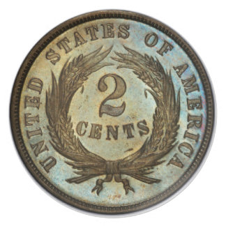 Two Cent Piece Dinner Plate. Dinner Plate