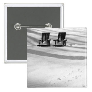Two Chairs Buried In Snow Pinback Buttons