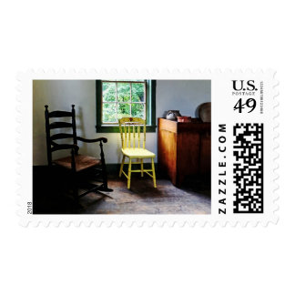 Two Chairs in Kitchen Stamp