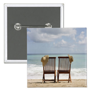 Two Chairs On Beach | Barbados Button