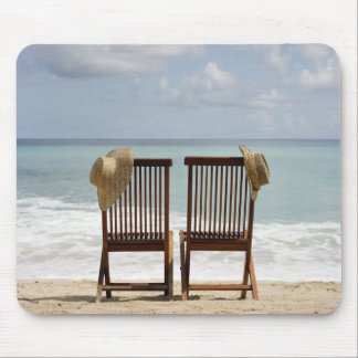 Two Chairs On Beach | Barbados Mouse Pad