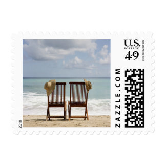 Two Chairs On Beach | Barbados Postage