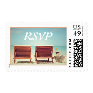 Two Chairs on the Beach Postage Stamps