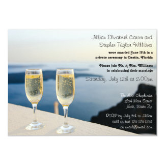 Two Champagne Glasses Photo - Wedding Announcement