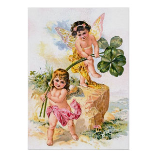 Two Charming Butterfly Children Poster