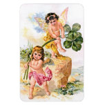 Two Charming Butterfly Children Rectangular Magnets