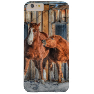 Two Cheeky Horses and a Barn Equine Photo Barely There iPhone 6 Plus Case